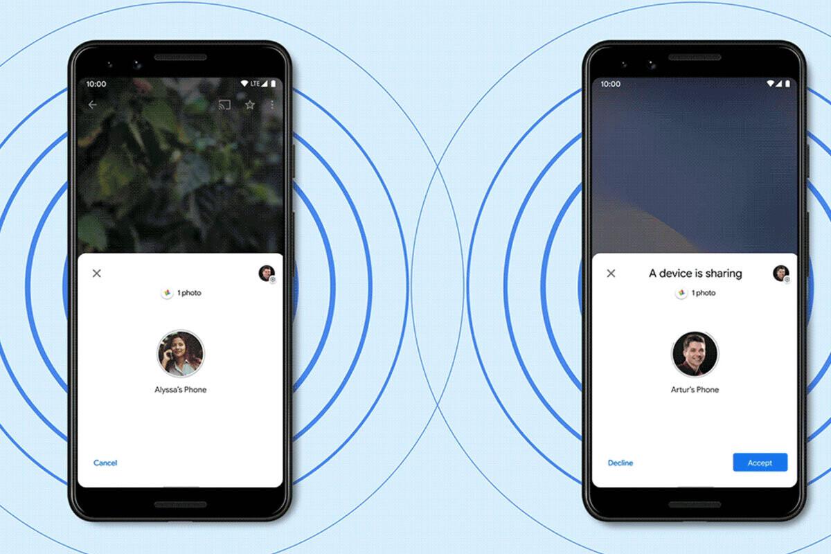 """""""Nearby Share"""" introducirá transferencia a múltiples usuarios y la visibilidad del dispositivo para """"todos""""."""